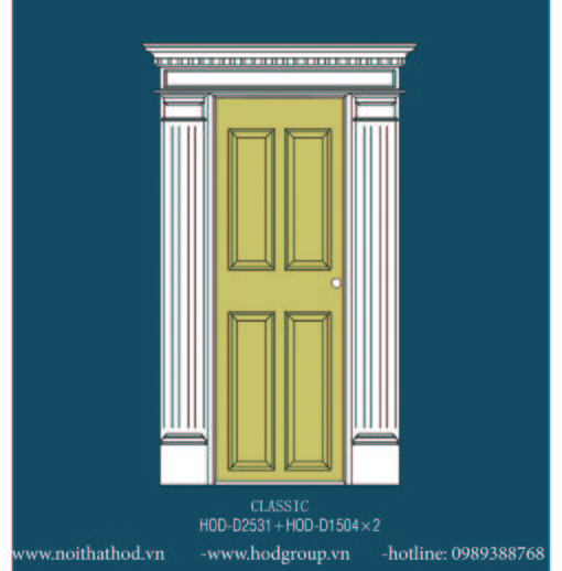 Khuôn cửa+ Mi cửa